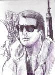 Sonny Crockett - Miami Vice (biro drawing) by oOCaptainCrazyOo