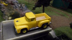 '56 Ford Truck Yellow #1 by hankypanky68