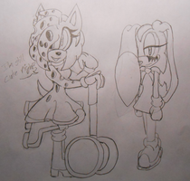 Amy.EXE and Cream.EXE *Sketches* by HauntedByTheLight
