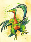 Grovyle - Hoenn Draw 'em all challenge by The-Spikey-Mouth