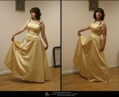 stock 933: gold dress by sophiaastock