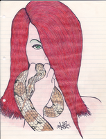 Woman With Snake by L4ZTh30N3