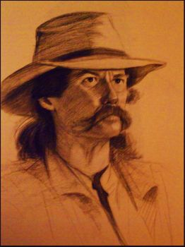 Portrait - Homeless Cowboy by Sycra