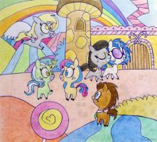 My Little Pretty Pretty Background Ponies by pandan009