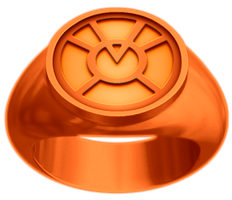 Orange Lantern Ring by KalEl7