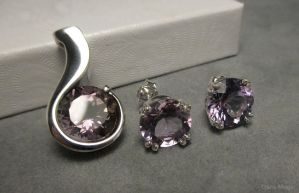 Ametrine pendant and earring set by Dans-Magic