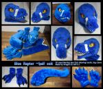 Blue raptor half suit by dragon-x2