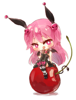 Kuro with Cherry by h-yde