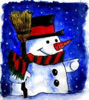 Frosty the Snowman by masterpandastudios