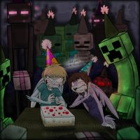 Happy Mob Party by MoonyWings