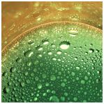 Green and Gold Bubbles by Juliabohemian