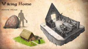 Viking's home by John-Strange