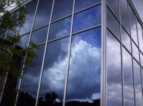 cloudy window by LadyMigui-stock