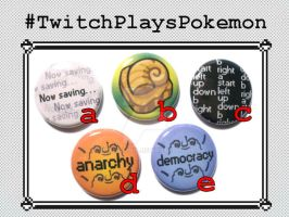 Twitch Plays Pokemon Buttons by MyFebronia