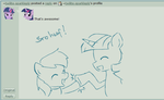 Snow and Twilight brohoof by maxthewarrior
