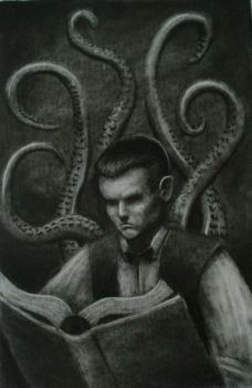 Reading the Necronomicon by sorrowking