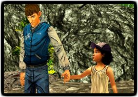 Ben and Clementine - Hand holding by Jak25R