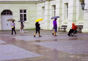 composition with umbrellas by Rikitza