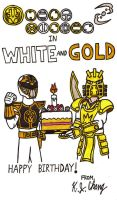 White And Gold Birthday Drawing Ver. by StealthNinja5
