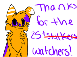 Thanks for 25+ watchers by xXPandananaXx