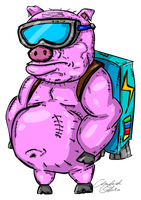 Pig on Jetpack by csys-279