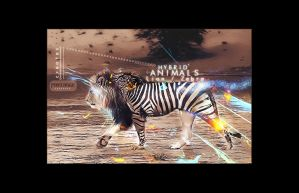 Lion Zebra Hybrid Animal by PixelAnge