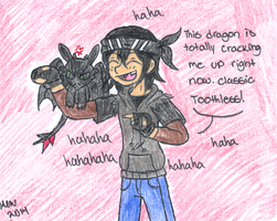 Casey and Toothless by Nicktoons4ever