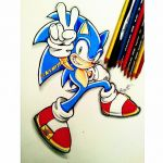 sonic the hedgehog adventure style attempt by AceArtz1001