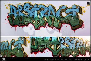 abstract graffiti done by injured-eye