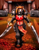Pandaren Fury Warrior by FranticStudios