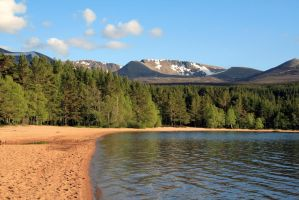 Loch Morlich and Cairngorms by paulblythe