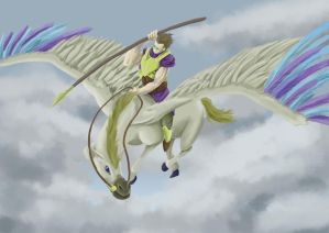 Bellerophone Riding Pegasus