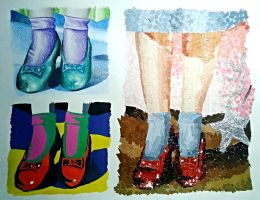The Wizard of Oz (Dorothy's shoes) by CariEspinosa