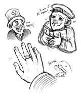 Cabin Pressure Series 4 sketches by Robynium