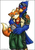 Commission:  Fox and Falco by souldreamx
