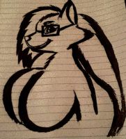 Inktober 8 Ms.kitty tribal style gift for VinFox by Justicewolf337
