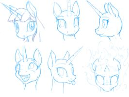 Sketch 2-5 Twilight Faces by Geomancing
