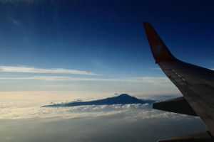 mountain shot from the sky by fantanicity