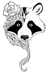 Racoon tattoo for a friend by Freewolf7