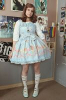 Blue Sweet Lolita by MaikaCosplay