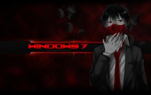 Wallpaper Anime Selective Color Red by DShepe by DShepe