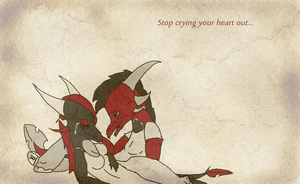 Stop crying your heart out... by CursedDragoness