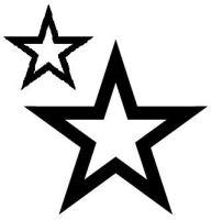 My Star Tattoo Stencil by MimiKat
