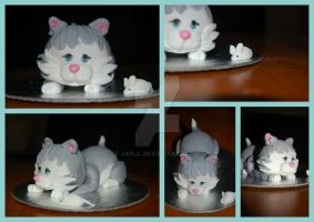 Mini Kitten Cake by JanJL