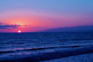 Sunset over Venice Beach 2nd version by alucard214