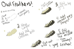 Owl Feathers Tutorial by Friviolity