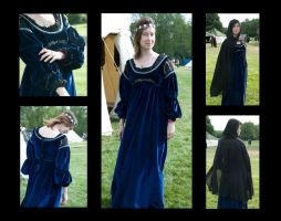 blue velvet renaisance dress by numberjumble