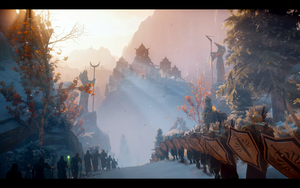 Dragon Age: Inquisition Tittle Screen by Ginshi