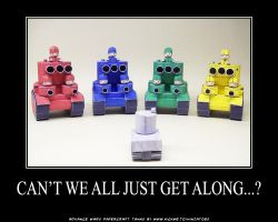 AW papercraft 4 against 1 by ninjatoespapercraft