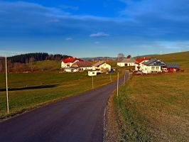 Country road, scenery and blues sky II by patrickjobst